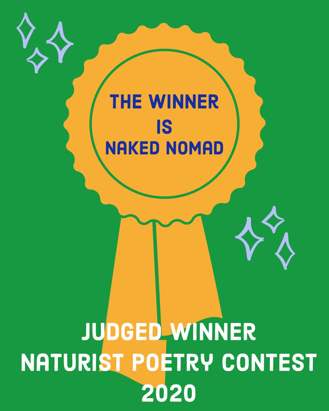 Judged poetry winner 2020