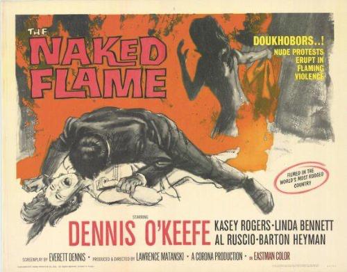 Naked flame horizontal poster