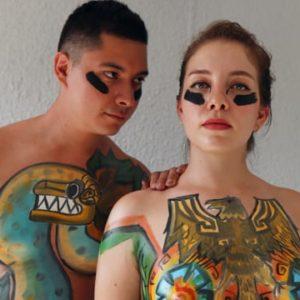 body paint y nudismo 431967668